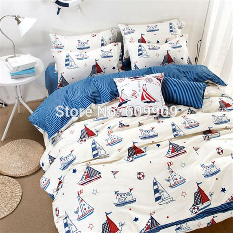 boat bed sets nautical theme bedding boys kids sailboat bed sheets white