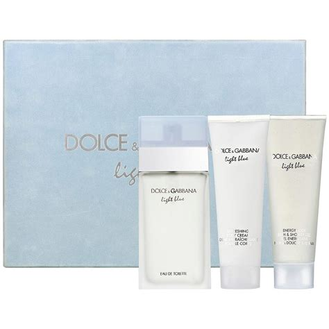 light blue dolce and gabbana womens gift set dolce gabbana d g light blue by dolce gabbana for
