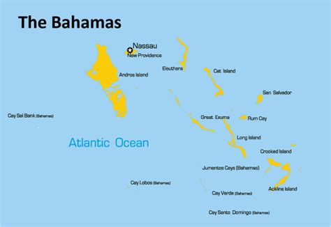 the bahamas map the bahamas map showing attractions accommodation