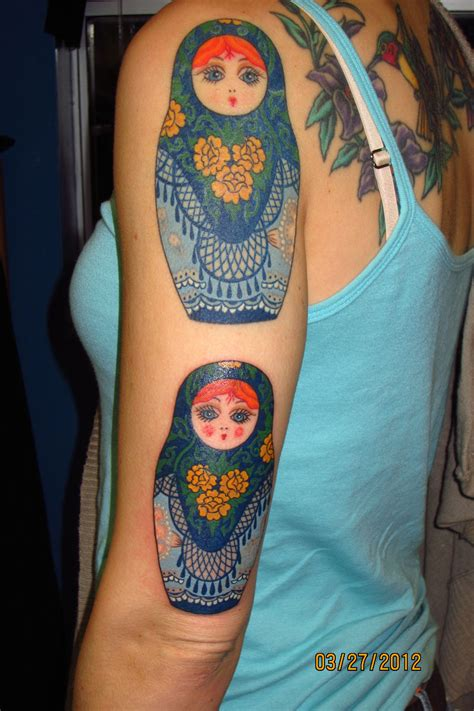doll tattoo matryoshka by paul gifted spider