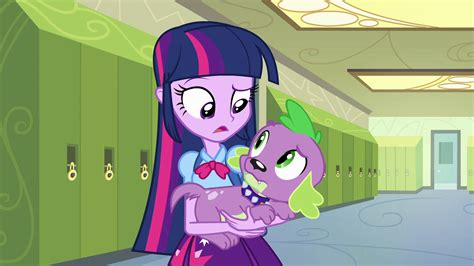 equestria girls twilight and spike image twilight and spike puzzled eg png my little pony