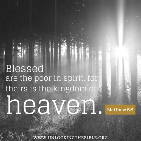 blessed are the poor in the distinguishing marks of a christian blog unlocking