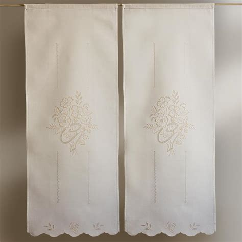 tende ricamate tende in cotone ricamate m 233 canisme chasse d eau wc