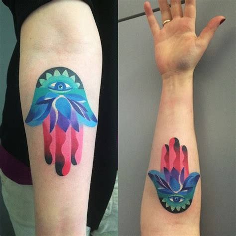 colorful hamsa tattoo best tattoo design ideas