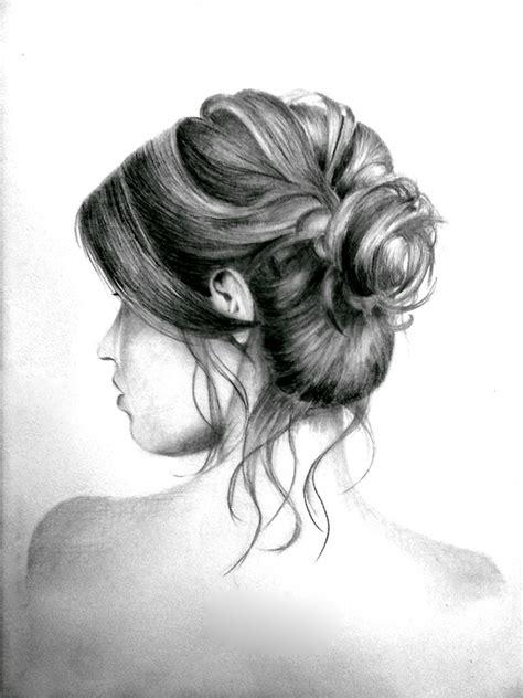 bun hairstyles drawing messy hair bun by kinannti on deviantart