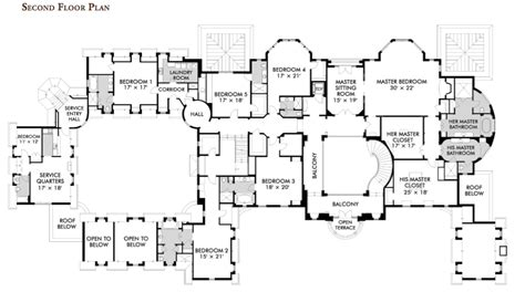 floor plans for a mansion floorplans homes of the rich