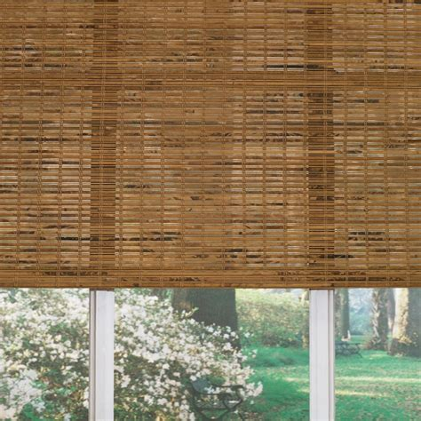 Woven Wood Shades Shop Levolor 60 In L Origami Light Filtering Woven Wood
