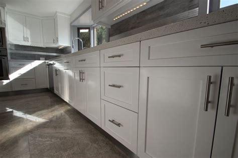 contemporary shaker kitchen sleek white shaker cabinets are for modern kitchen