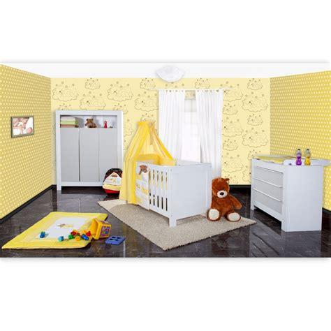 Babyzimmer Grau Gelb babyzimmer felix in weiss grau mit 3 t 252 rigem kl 19 tlg
