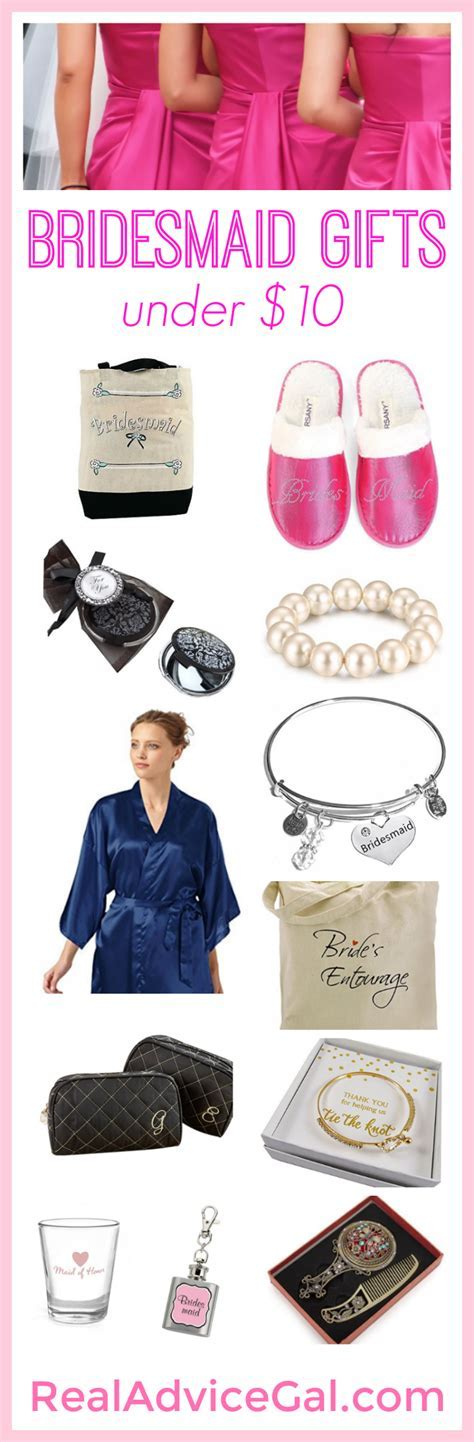 Pretty but affordable bridesmaid gifts under $10 that your