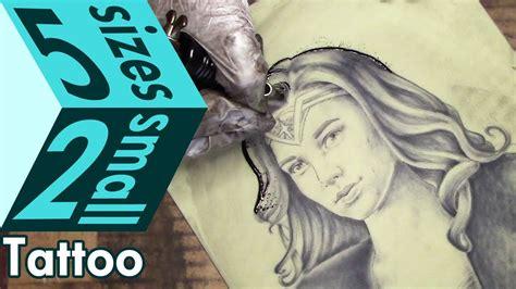 tattoo gun and fake skin gal gadot wonder woman portrait tattoo practice on fake