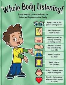 kindergarten listening skills lesson city school