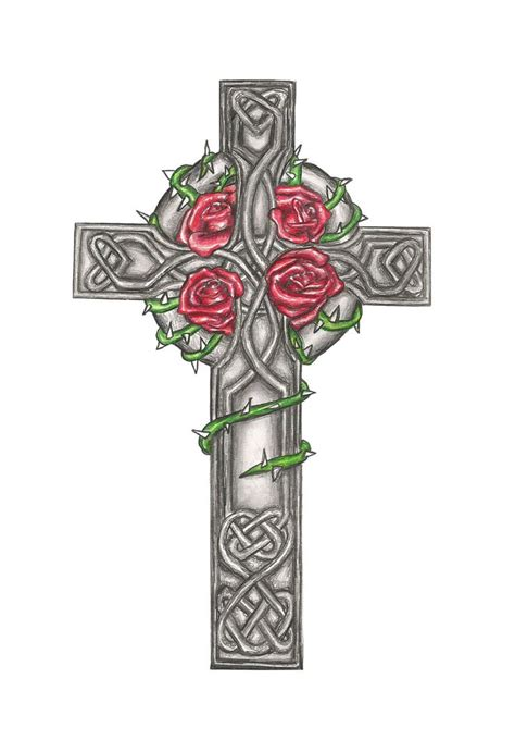cross tattoos with flowers and vines collection of 25 vine and celtic cross tattoos on back