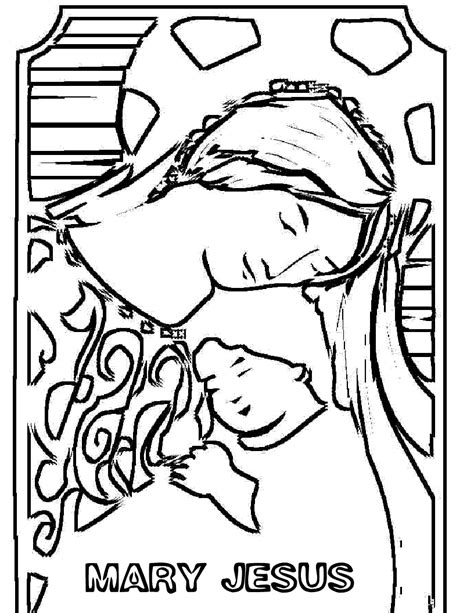 free coloring pages of virgin mary