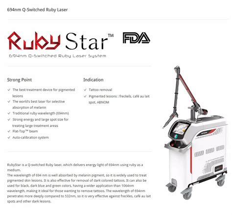 ruby laser tattoo removal rubystar 694nm q switched ruby laser for removal