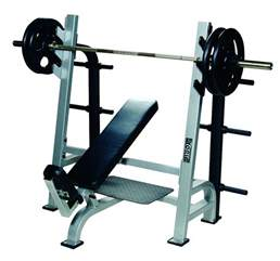 Bench Barbell Sts Olympic Incline Bench W Gun Racks York Barbell