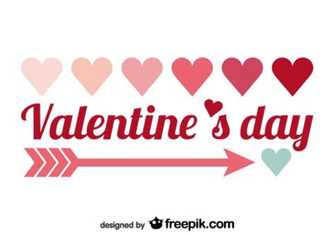 valentines text s day minimalist text design vector free