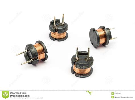 audio inductor ferrite small ferrite inductor for electronic stock photo image 45850497