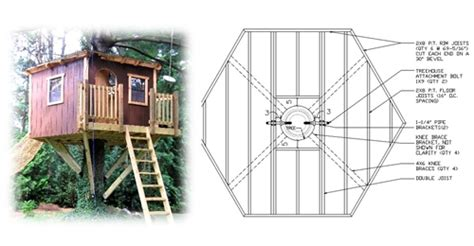 10 hexagon treehouse plan standard treehouse plans