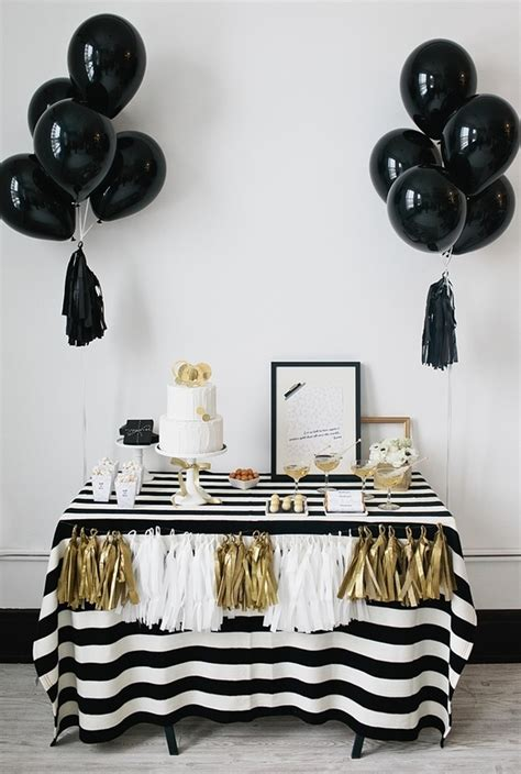 Black And White Decorating Ideas For A Party Make It Happen Black And White Party Ideas The Alison Show