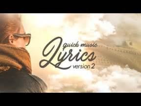 after effects lyric template lyrics v2 after effects template
