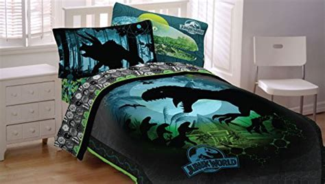jurassic park bedding jurassic world 4pc twin comforter and sheet set bedding