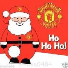10 pack of man utd football christmas cards santa snowman