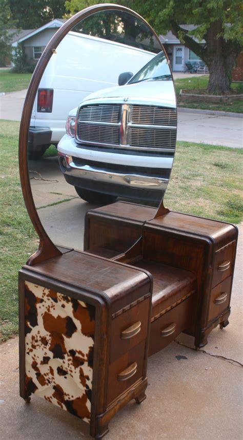 antique waterfall vanity dresser sold vintage art deco western country waterfall vanity