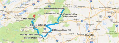 carolina mountains map fall foliage road trip through carolina mountains