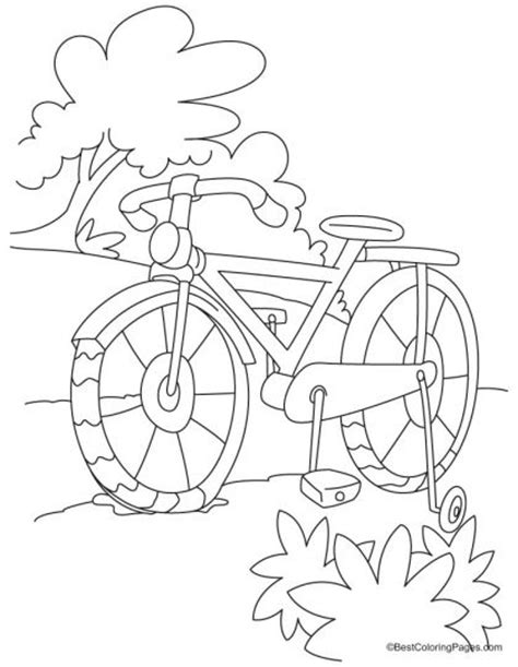 tricycle coloring pages preschool full length kids bike coloring page download free full