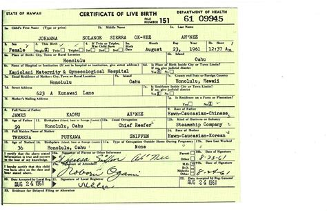 ah nee birth certificate generates layers when scanned on
