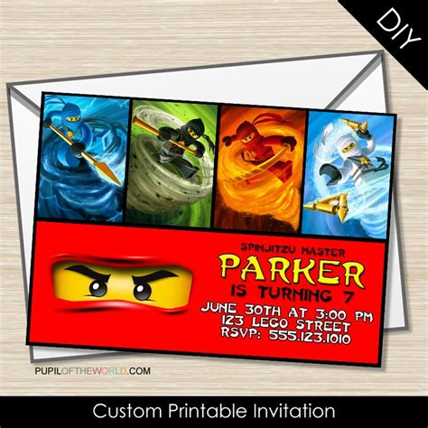 printable ninjago invitations free 17 best invitation images on pinterest ninjago party