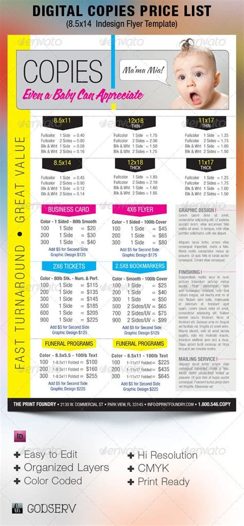 design flyer cost digital printing price list flyer template printing