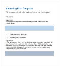 marketing plan template word free sle marketing plan template 9 free documents in word