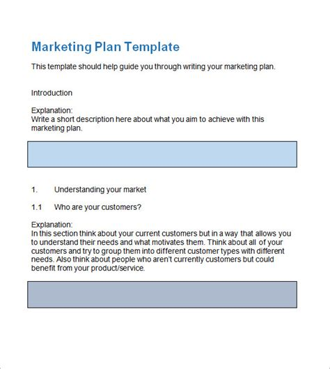 market plan template sle marketing plan template 13 free documents in
