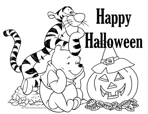 coloring pages free halloween printable free disney halloween coloring pages lovebugs and postcards