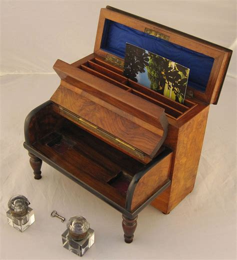 office desk stationery set english desk set with inkwells and stationery box at 1stdibs