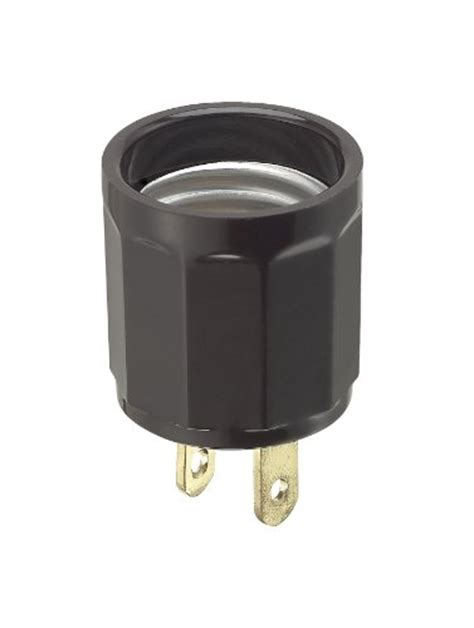 l holder to outlet adapter leviton 61 660 watt 125 volt polarized outlet to