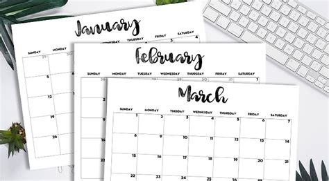 calendar printable  template lovely planner