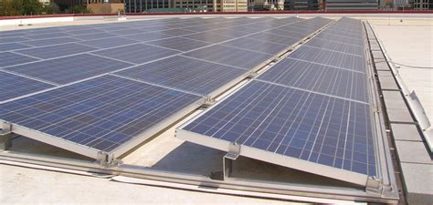 Ballasted Solar Racking by Flat Roof Mounting Systems Solarpro Magazine
