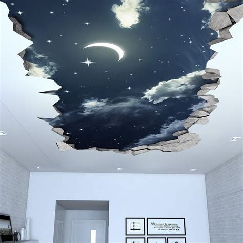 night sky  effect ceiling decal dream house  wall