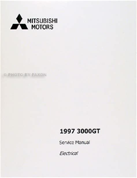 car maintenance manuals 1997 mitsubishi gto user handbook 1997 mitsubishi 3000gt repair shop manual factory reprint set