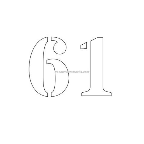 printable 4 inch numbers free 4 inch 61 number stencil freenumberstencils com