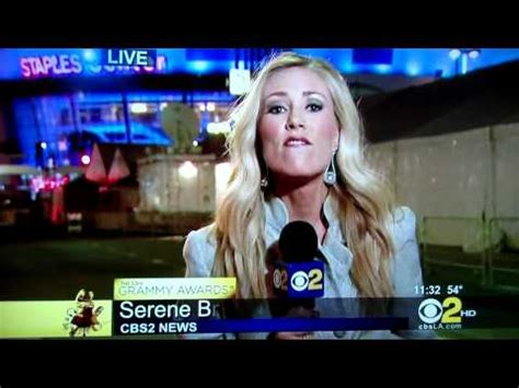 Hollyscoop Post Grammy Coverage by Cbs Newscaster Loses It During 2011 Post Grammy Coverage