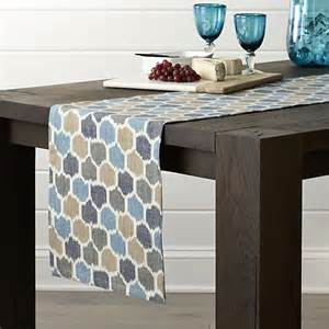 zander 90 quot table runner in table runners crate and barrel