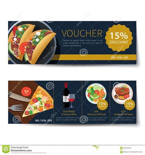 discount food set of food voucher discount template design stock vector image 56481404