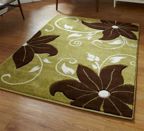 Green And Brown Rug Stunning Floral Flower Pattern Large Flower Rug