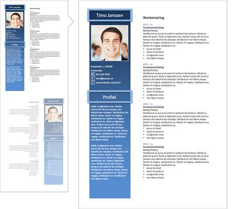 Cv Sjabloon Pages Professional Word Resume Templates P 1 Lifebrander