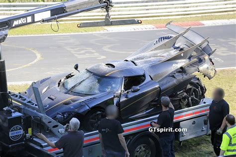 koenigsegg one 1 crash koenigsegg one 1 crashes at the nurburgring during testing