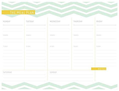pretty printable meal planner meal planner worksheet organization pinterest weekly